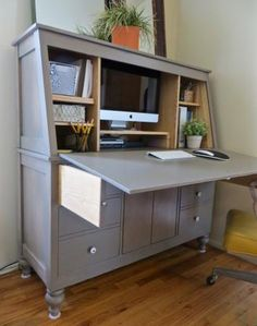 Armoire Turned Computer Cabinet Diy Crafts Pinterest Armoire