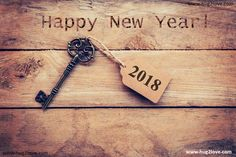2018 Vintage Style Happy New Year Wallpaper