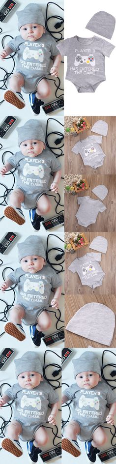 Baby Girls Clothing: Newborn Baby Boy Girl Romper + Hat Set Newborn Bodysuit Jumpsuit Clothes Outfits -> BUY IT NOW ONLY: $6.79 on eBay!