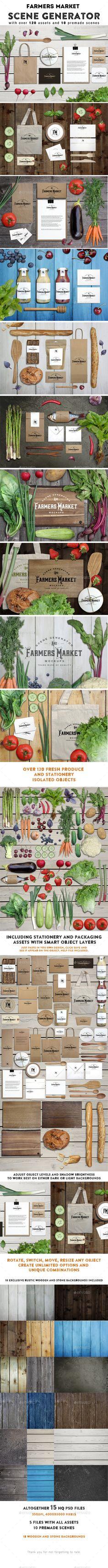 Farmers Market Scene Generator #design Download: http://graphicriver.net/item/farmers-market-scene-generator/11831400?ref=ksioks