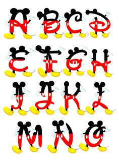 Molde Mickey Para Imprimir Baixar Alphabet Of Mickey Mouse Pictures and Drawings to Print Mickey Mouse Letters, Theme Mickey, Fiesta Mickey Mouse, Mickey Mouse Bday, Mickey Party, Mickey Mouse Birthday, Mickey Minnie Mouse, Mickey Font, Disney Mickey