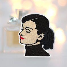 Audrey Hepburn Patch Ein suesser Fratz Iron on Patch von mimosch