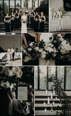 wedding Themes black and white - Modern Chic Black and White Wedding at the South Congress Hotel Black And White Wedding Theme, Gray Wedding Colors, Beige Wedding, White Wedding Flowers, Wedding Color Schemes, Black White Weddings, Black Wedding Decor, Modern Wedding Theme, Wedding Ideas