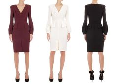 A shorter version of the dress is available in Aubergine for £1,775 and Black and Ivory and for £1,395.