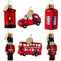 Mini London icons tree decorations - Historic Royal Palaces online gift shop