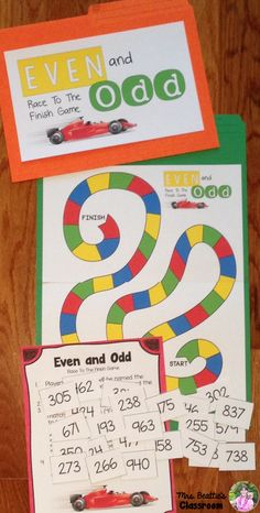 Using a Guided Math or Daily 5 Math approach in your classroom? This Guided Math: Odd & Even Numbers FREEBIE from Mrs. Math Strategies, Math Resources, Math Activities, Math Games, Classroom Resources, Classroom Ideas, Fractions, Daily 5 Math, Daily 3