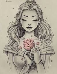 This is Beautiful ! Sketched picture of Disney Princess Belle, with only the ros. This is Beautiful ! Sketched picture of Disney Princess Belle, with only the rose in color. Disney Princess Belle, Princesa Disney Bella, Disney Princess Tattoo, Tattoo Disney, Disney Princess Drawings, Tattooed Disney Princesses, Disney Tattoos Ideas, Disney Tattoos Unique, Disney Princess Pictures