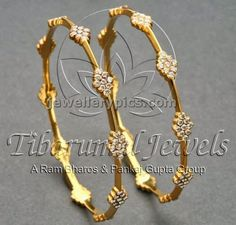 Diamond Bangle designs at Tibarumal jewellers - Latest Jewellery Designs Gold Bangles Design, Gold Jewellery Design, Gold Jewelry, Swarovski Jewelry, Handmade Jewellery, Diamond Bangle, Diamond Jewelry, Latest Jewellery, Ring Verlobung