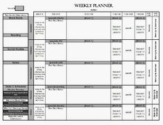 Editable Weekly Lesson Plan Template  Weekly Lesson Plan Template