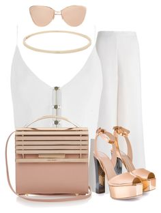"""""""Lunch Date Outfit"""" by ashantiannasmith on Polyvore featuring Zimmermann, Giuseppe Zanotti, Eddie Borgo and Cutler and Gross"""