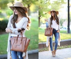 long neutral cardigan outfit