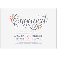 Engagement Party Printables , Flowery Touch
