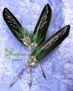 SERAFINA Winged Enchantment CSD Feather Quill Dip Pen