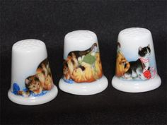 Wedgwood Thimble - I have this particular thimbles in my collection, and it's one of my favourites! (AH)