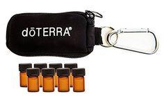 doTERRA Essential Oil Key Chain With 8 5/8 Dram (2 ml) Vi...