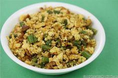 tofu scramble with green beans, phamfatale.com
