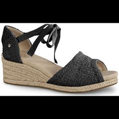 Looking for UGG Delmar Sandal size 6.5! Borrowed a pair of these from my girlfriend recently and LOVED how comfy they are! UGG discontinued. I'm looking for 2 pairs, size 6.5. Prefer black. Thanks UGG Shoes Espadrilles