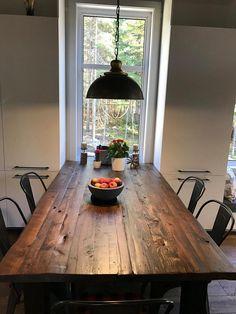 TABLE SELENA - BOIS DE GRANGE #surmesure #lusine #selena #boisdegrange #table Dining Table, Rustic, Selena, Tables, Furniture, Home Decor, Woodwind Instrument, Barn, Country Primitive