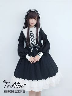 Tomy Bear -St Mary's Abbey- Gothic Lolita OP Dress