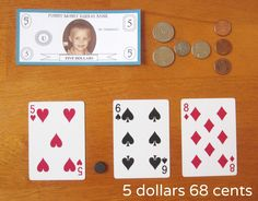 """Grab a deck of cards, some play money, and a magnet, pom-pom, or button. It's time to play """"Moving Decimal!"""" Stop by Relentlessly Fun, Deceptively Educational for details."""