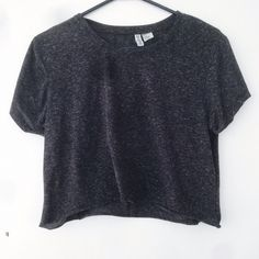 Cropped Boyfriend Tee Pre-Loved. Price is Firm. Crew neck tee with semi-cuffed sleeves. Hem is raw edged (photo 2). Shirt may begin pilling after a few more washes due to its age and material. Tag size Medium, fits a Small to Medium. Brand is not American Apparel, listed for exposure. Brand is HM. NO TRADE. NEGOTIATIONS ONLY THROUGH THE OFFER BUTTON. Comments asking to trade or negotiation through comments will be ignored American Apparel Tops Crop Tops