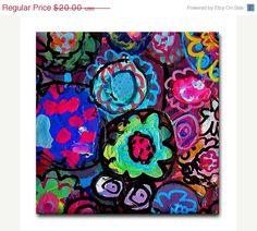 50 OFF SALE  Kitchen Tile  Flower Tile  Modern by HeatherGallerArt, $10.00