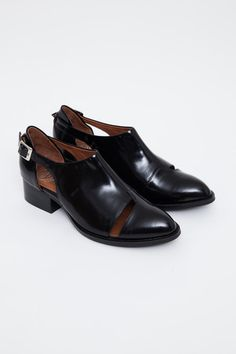 Jeffrey Campbell - Leroy Cut-Out Buckled Shoe via @Victoria Wilferd   Sleek with just a bit of skin.