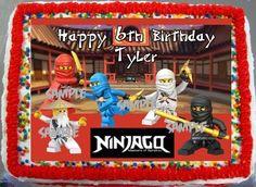 1/4 Sheet Legos Ninjago Edible Frosting Cake Birthday Image Party Ninja Ying #29