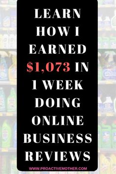 With this information you will be able to do product and service reviews for local business for a profit. Starting tomorrow! ProactiveMother.com #WorkfromHome #JobsforMoms #WorkfromhomeMoms #OnlineJobs #ProductReviews
