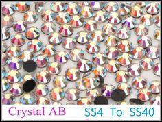 Good Quality SS4 to SS40 Crystal AB DMC Hotfix Rhinestone 1.5mm to 8.4mm Glass Strass Hot Fix Iron On Rhinestones Flatback #clothing,#shoes,#jewelry,#women,#men,#hats,#watches,#belts,#fashion,#style