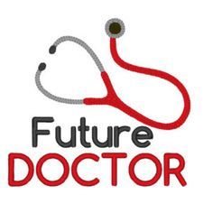 Future Doctor . INSTANT DOWNLOAD. Machine Embroidery Design Digitized File 4x4 5x7 6x10