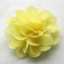 12PCS Large 5.5CM-6CM Organza Ribbon Bows Flowers Appliques Wedding A0416