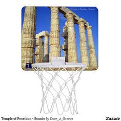 Temple of Poseidon - Sounio Mini Basketball Hoops