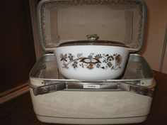 Pyrex England Vine Cinderella Bowl and Lid