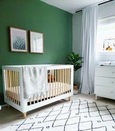 Olive Green Nursery Boy#boy #green #nursery #olive Green Nursery Girl, Green Boys Room, Boys Room Colors, Baby Nursery Neutral, White Nursery, Black Out Curtains Nursery, Baby Room Design, Nursery Design, Baby Room Decor