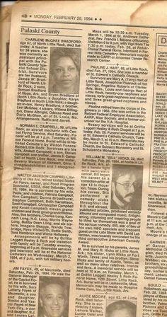 Bill's newspaper obituary.