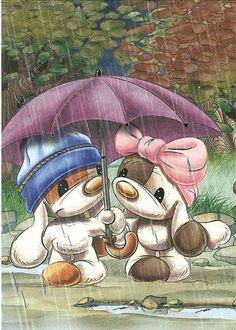💕Mylo and Friends Cute Images, Cute Pictures, Showers Of Blessing, Blue Nose Friends, Matou, Tatty Teddy, Penny Black, Funny Wallpapers, Cute Illustration