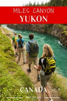 Miles Canyon in Whitehorse Yukon Canada is a breathtakingly beautiful natural attraction. Yukon Canada, Yukon Territory, Canada Destinations, Canadian Travel, Visit Canada, Hiking Tips, Travel Guides, Travel List, Campers