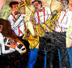 "Contemporary Painting - ""all that jazz"" (Original Art from fred budin)"