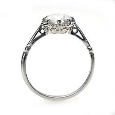 a good side profile (low-set white gold engagement ring)