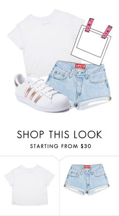 """Untitled #408"" by bubblegxum ❤ liked on Polyvore featuring adidas, cute and pastel"