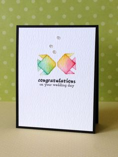 Love the watercolor + white space for a card