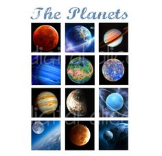 THE PLANETS digital collage sheet planet star by DigitalAlice