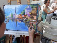 HALLSTADT Výtvarné kurzy VytFit- Zážitkové, tvorivo- experimentálne kurzy kreslenia, malovania pre každého, Kreatívne dielne v oblastiach kresba, malba, grafika, úžitkové umenie, príprava na SŠ, VŠ- architektúra, design, animovaná tvorba, teambuildingové akcie a workshopy pre firemné kolektívy Bratislava, Painting, Painting Art, Paintings, Painted Canvas, Drawings