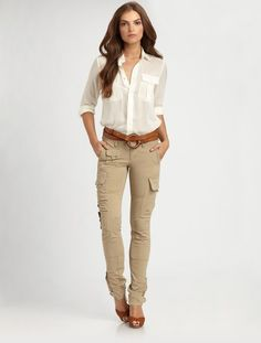 Perfect Skinny Pants For Women Beige Pants Office Fashion