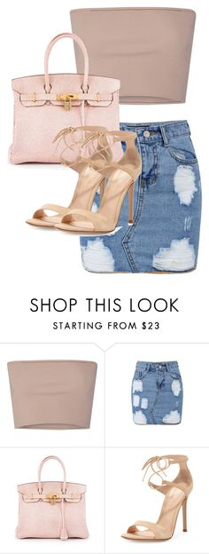 """Untitled #2265"" by princess-maya13 ❤ liked on Polyvore featuring Calvin Klein Collection, Hermès and Gianvito Rossi"