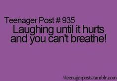 yup totally me, but laughing is good 4 ur abs