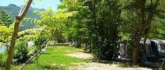 Camping Les Acacias, au bord de la rivière Drôme.