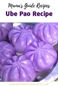 Ube pao recipe for all ube lovers out there (purple yam). Ube is a favorite Fili. Ube pao recipe f Pinoy Dessert, Filipino Desserts, Asian Desserts, Filipino Recipes, Filipino Food, Filipino Dishes, Asian Snacks, Thai Dessert, Korean Dishes