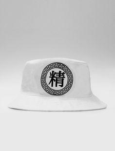 Image of Very Rare Kanji White Bucket Hat